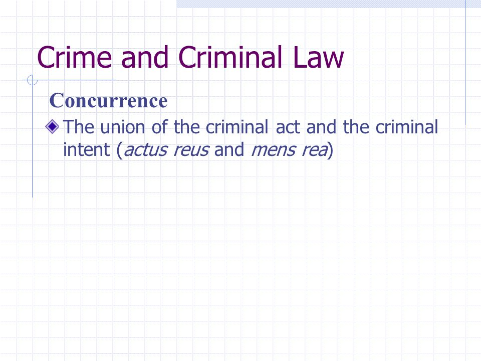 Crime and Criminal Law Concurrence