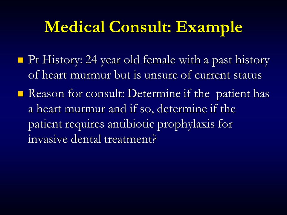 Medical Consult: Example