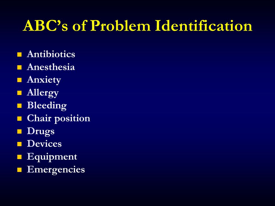 ABC's of Problem Identification