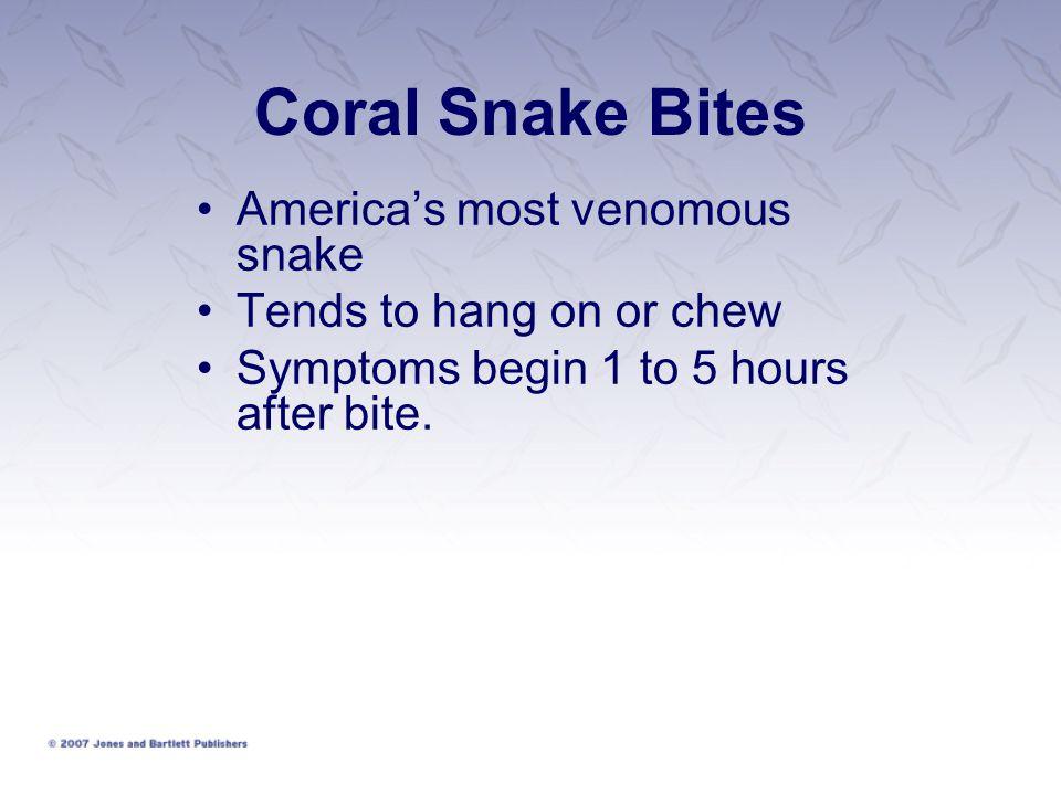 Coral Snake Bites America's most venomous snake