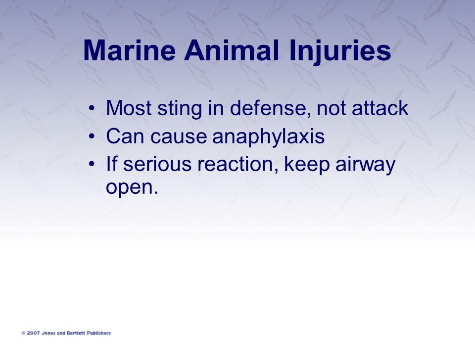 Marine Animal Injuries