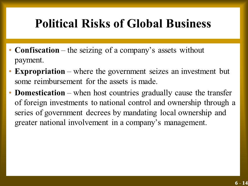 Political Risks of Global Business