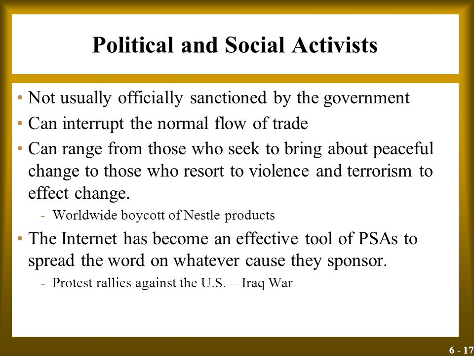 Political and Social Activists