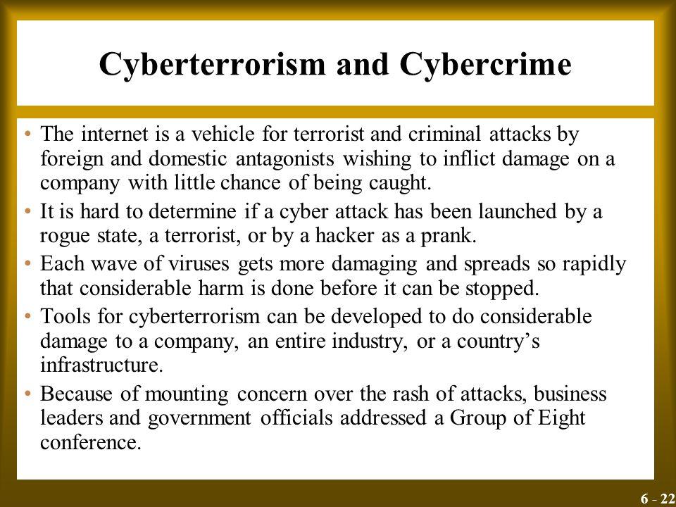Cyberterrorism and Cybercrime