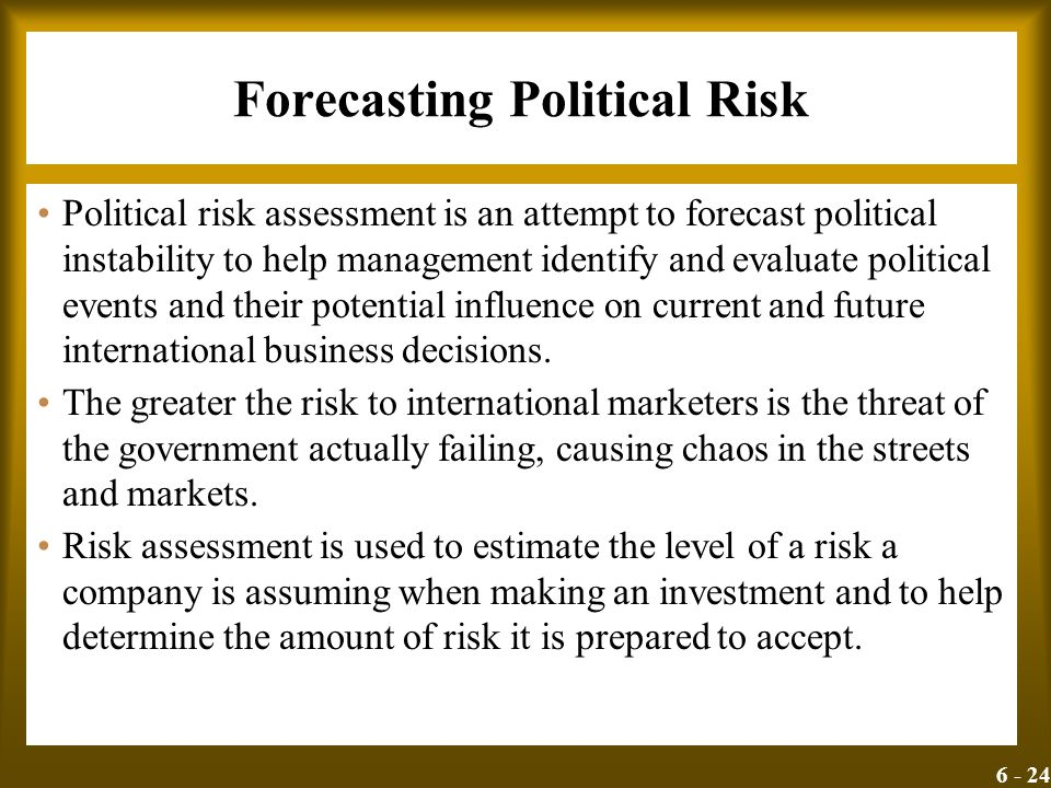 Forecasting Political Risk