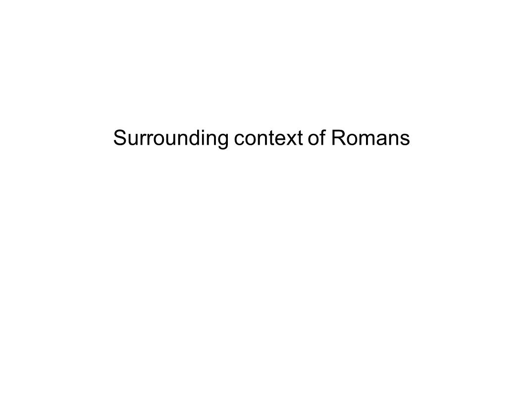 Surrounding context of Romans