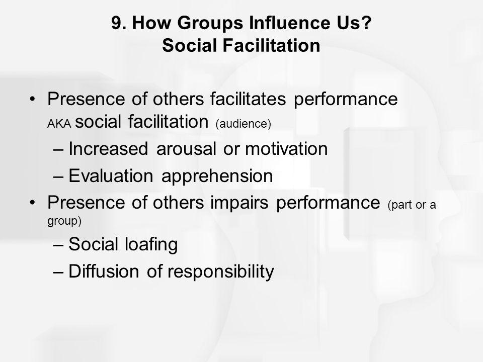 9. How Groups Influence Us Social Facilitation