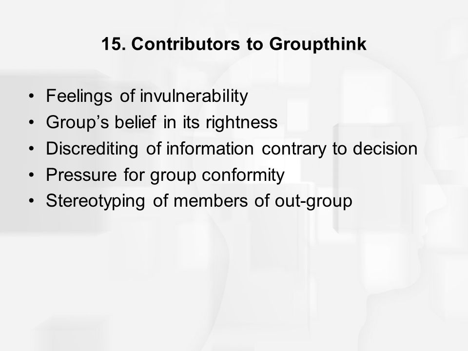 15. Contributors to Groupthink