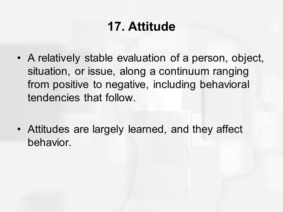 17. Attitude