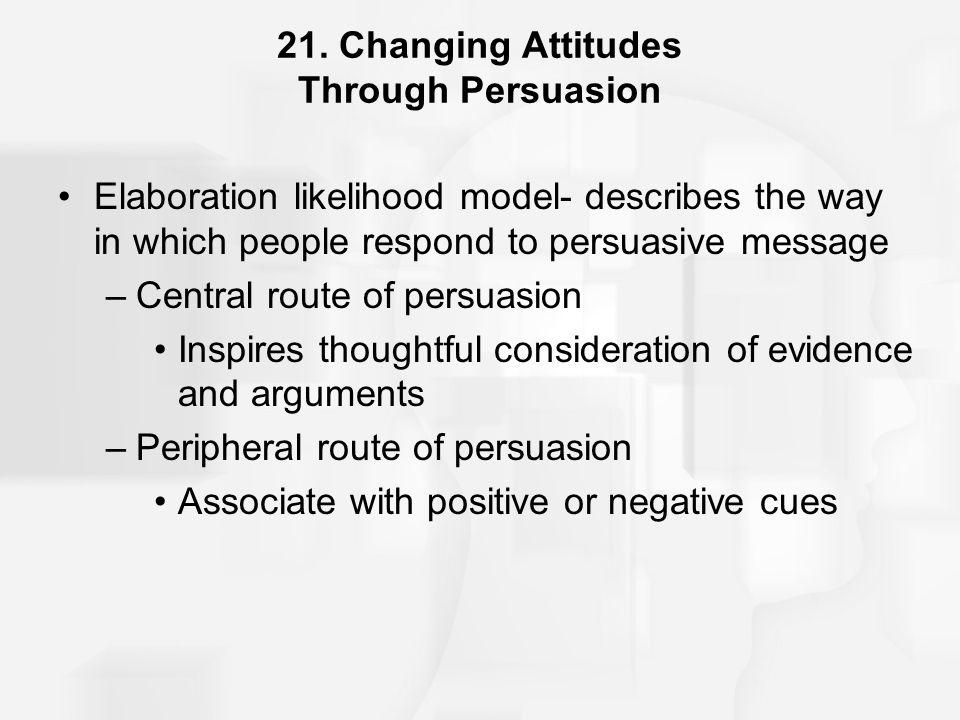 21. Changing Attitudes Through Persuasion