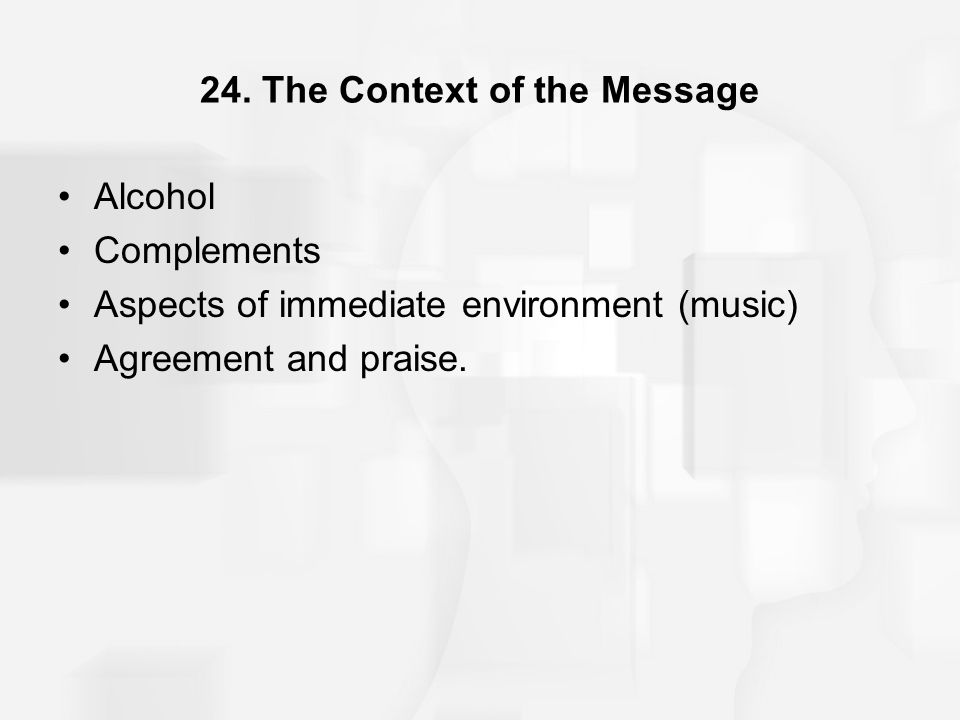 24. The Context of the Message