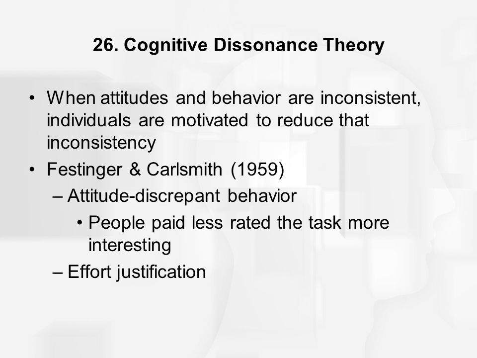 26. Cognitive Dissonance Theory