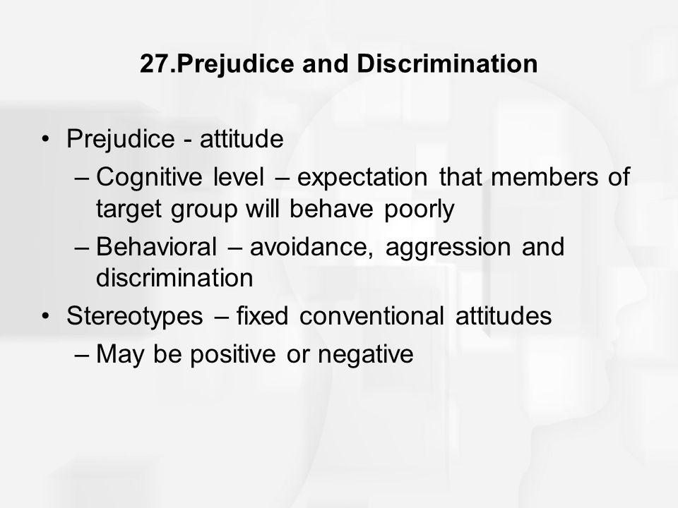 27.Prejudice and Discrimination