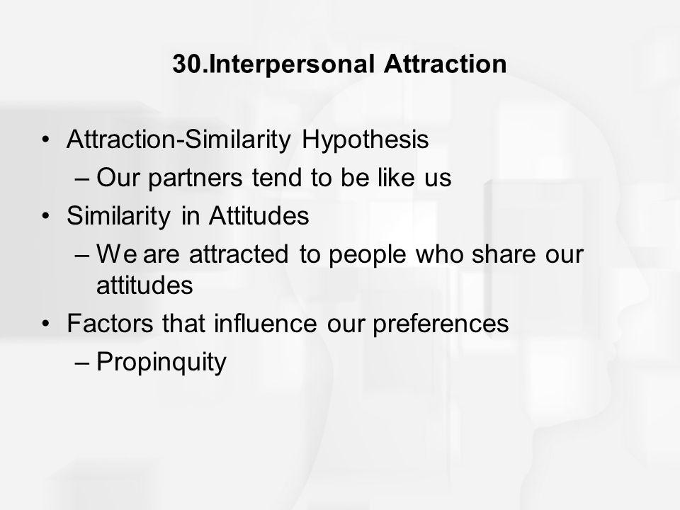30.Interpersonal Attraction