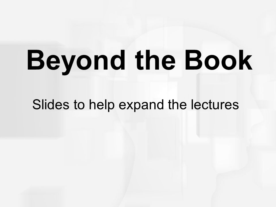 Slides to help expand the lectures