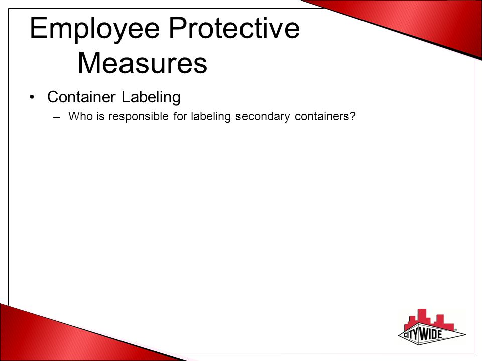 Employee Protective Measures