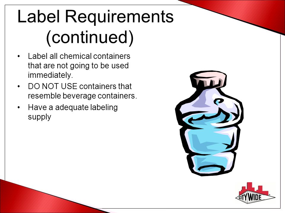 Label Requirements (continued)