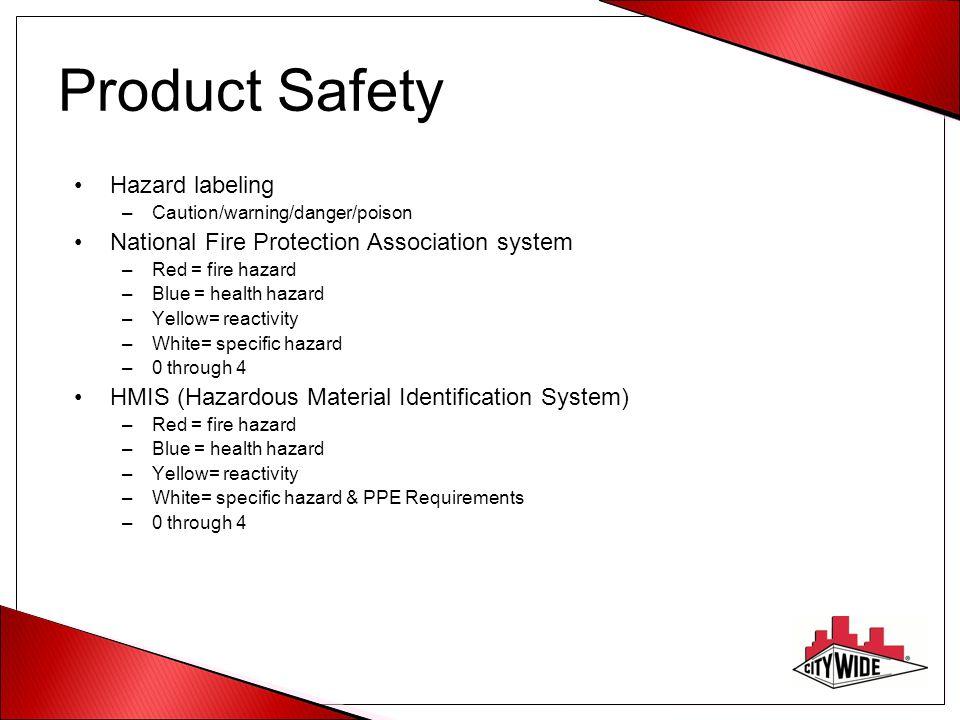 Product Safety Hazard labeling