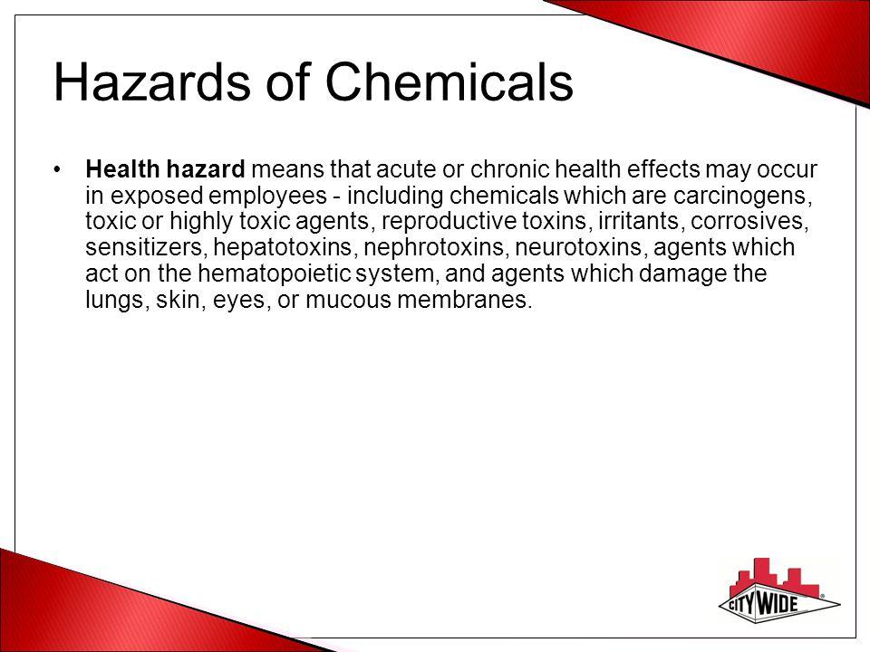 Hazards of Chemicals