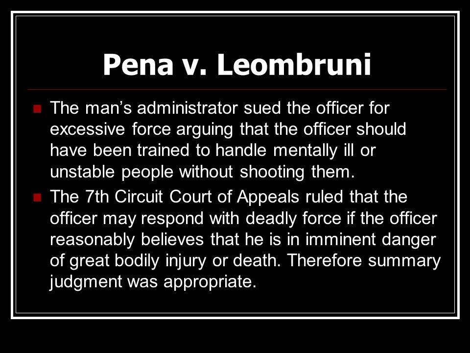 Pena v. Leombruni