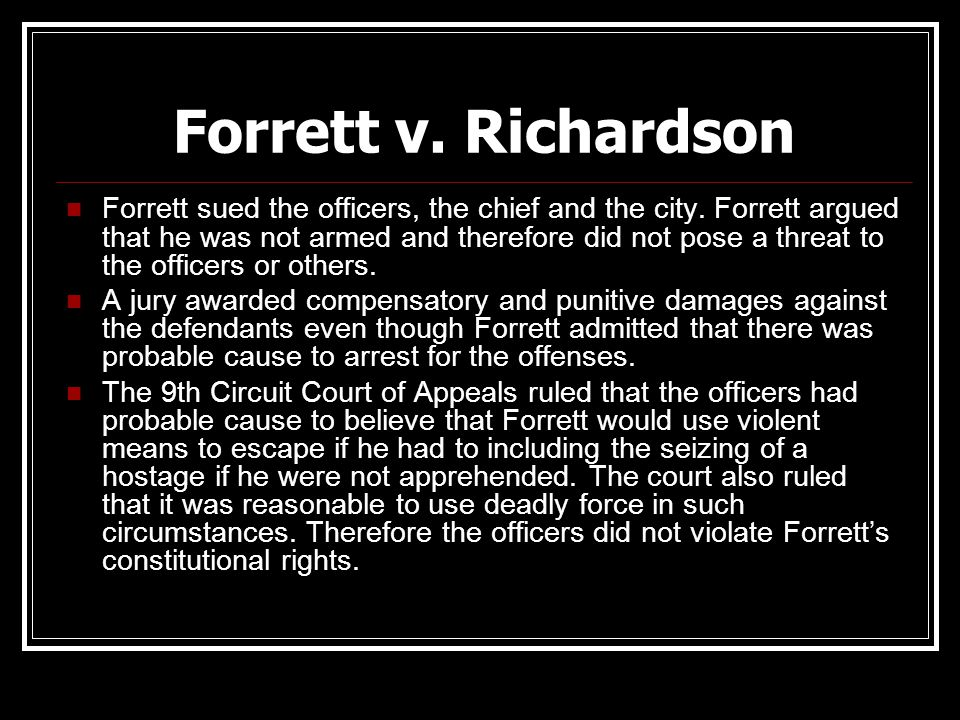 Forrett v. Richardson