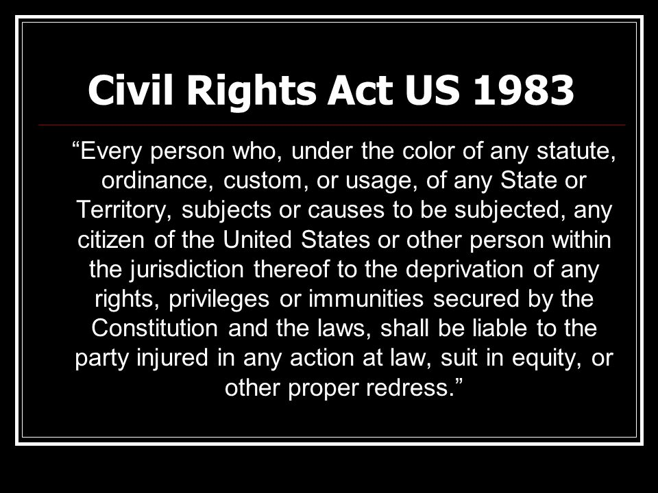 Civil Rights Act US 1983