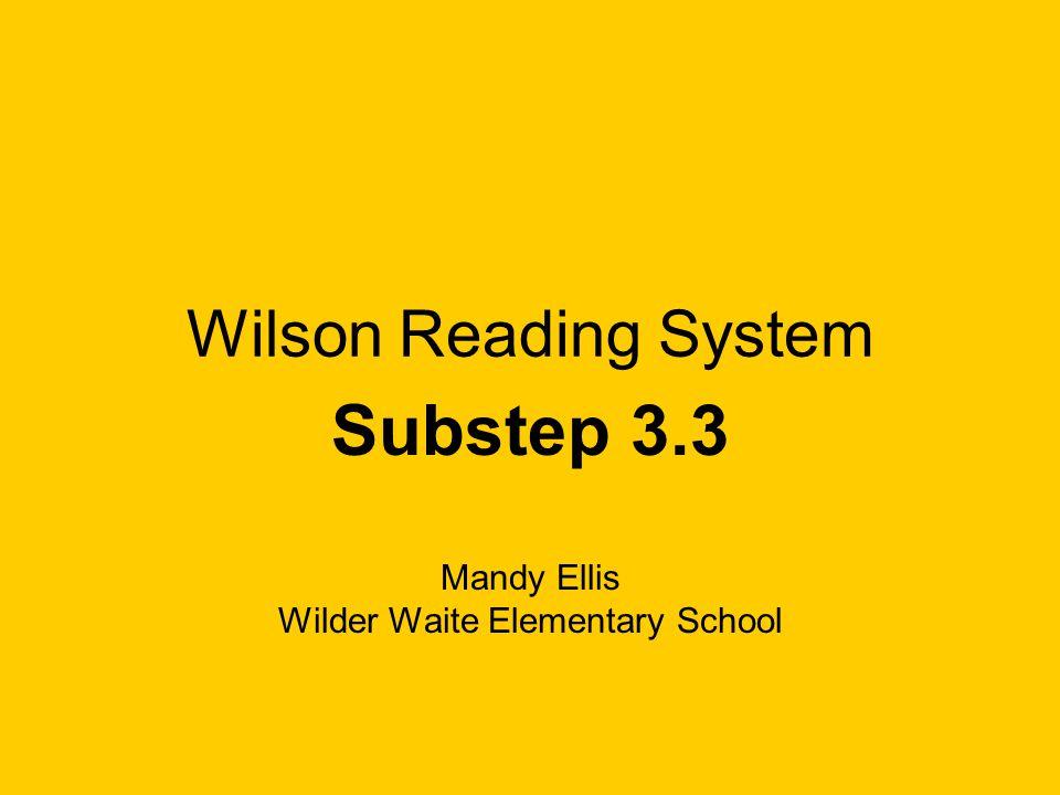Substep 3.3 Mandy Ellis Wilder Waite Elementary School