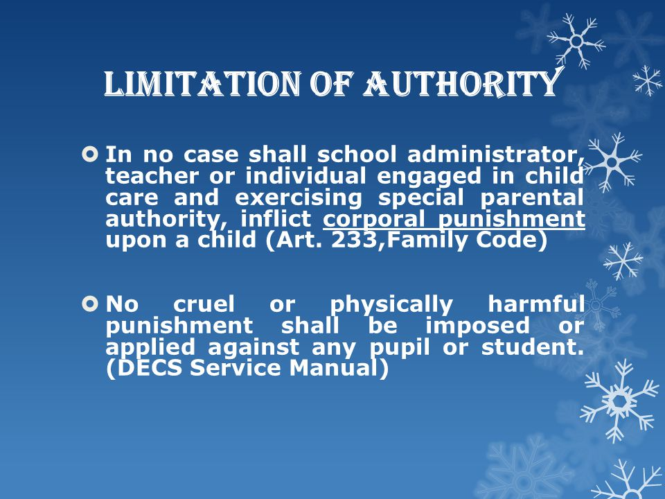 Limitation of Authority