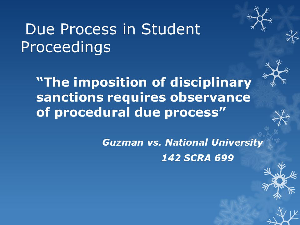 Due Process in Student Proceedings