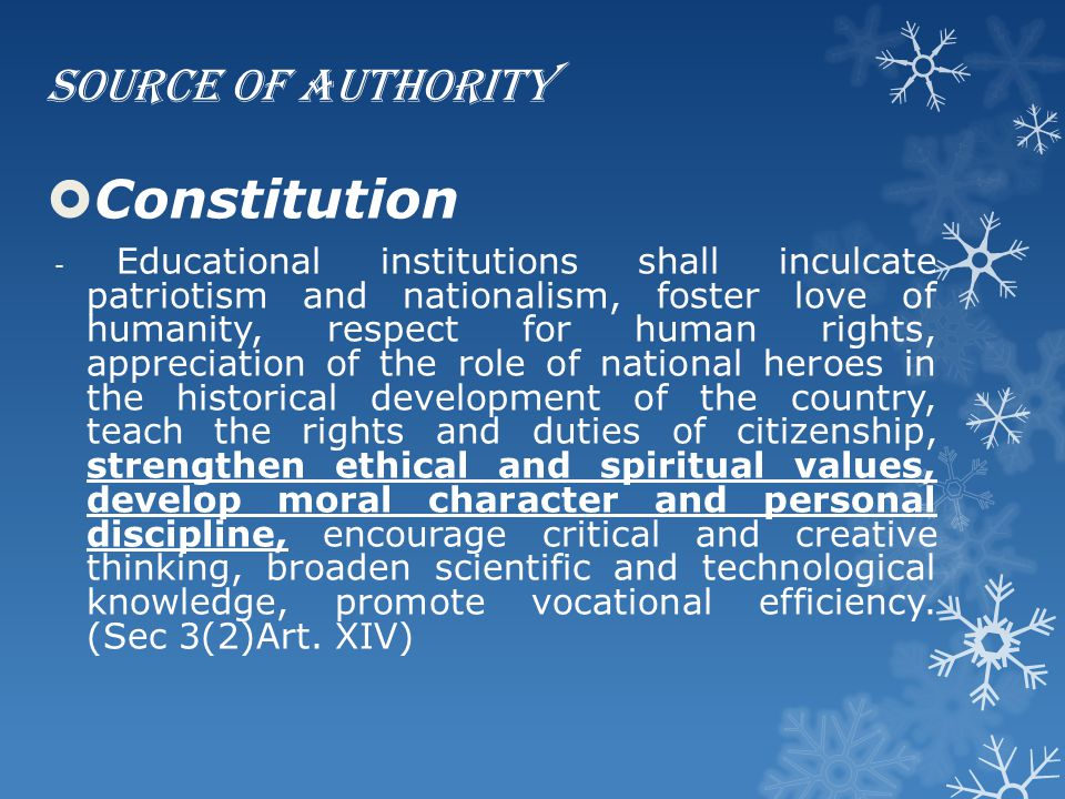 Constitution Source of Authority