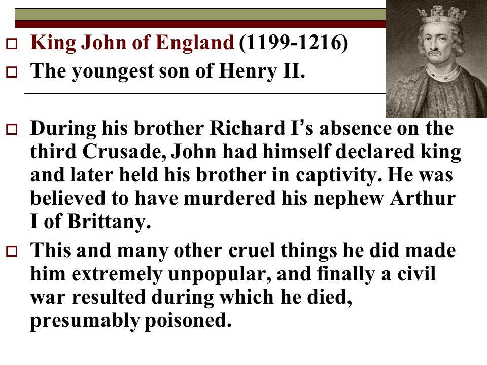 King John of England (1199-1216)
