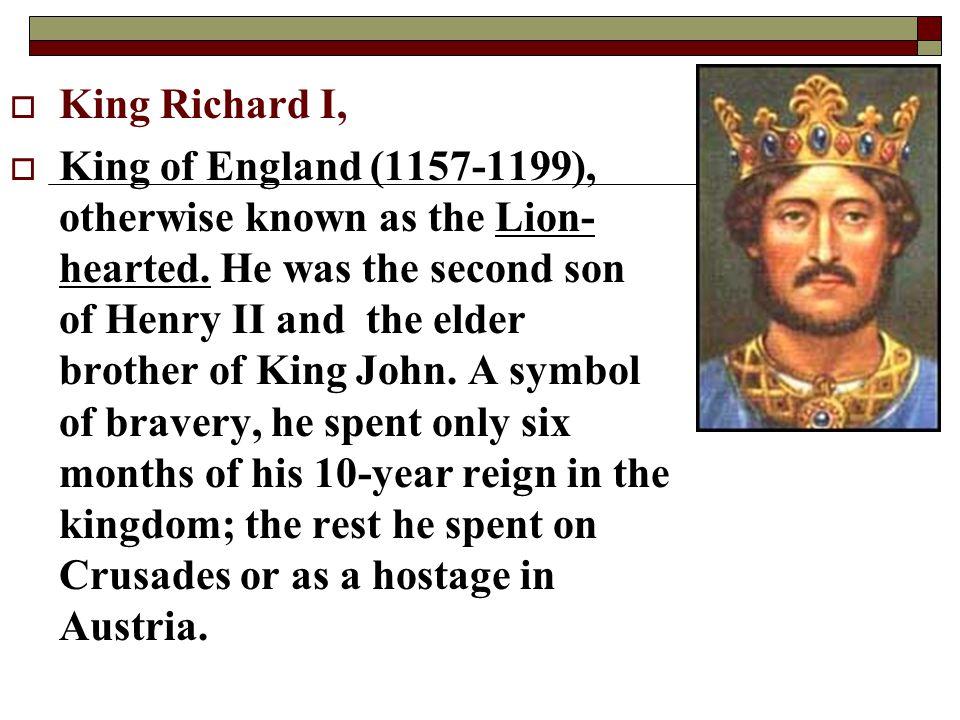 King Richard I,
