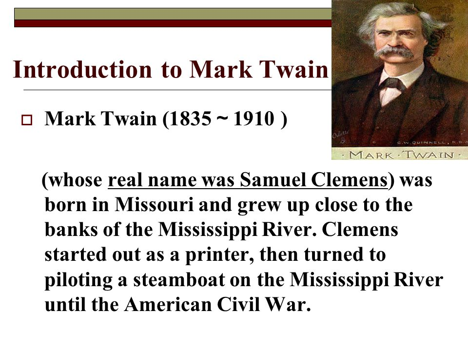 Introduction to Mark Twain