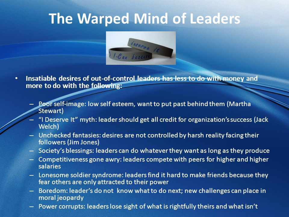 The Warped Mind of Leaders