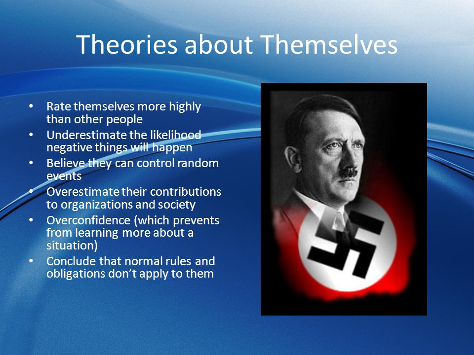Theories about Themselves