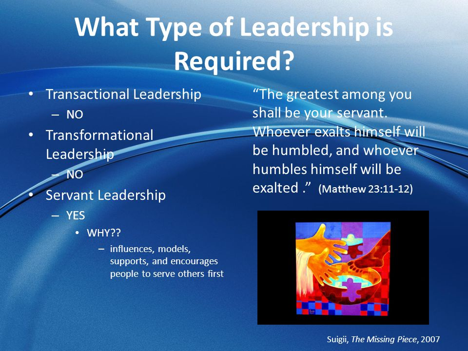 What Type of Leadership is Required