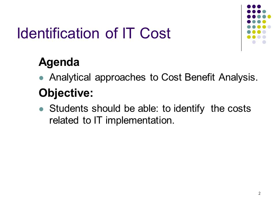Identification of IT Cost