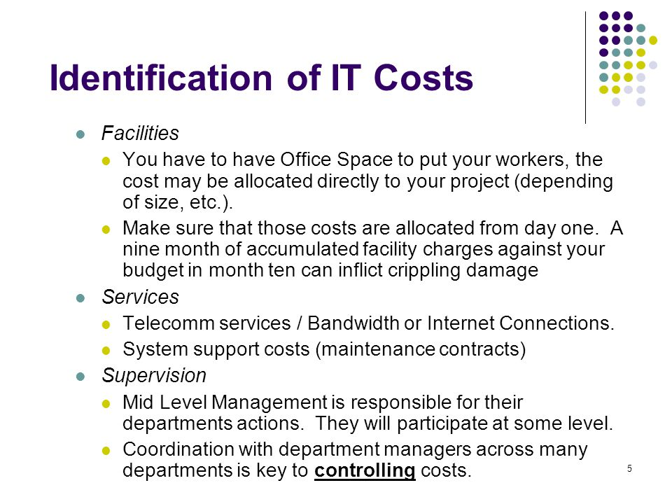 Identification of IT Costs