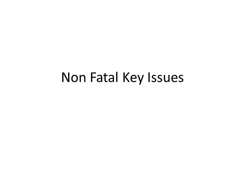 Non Fatal Key Issues