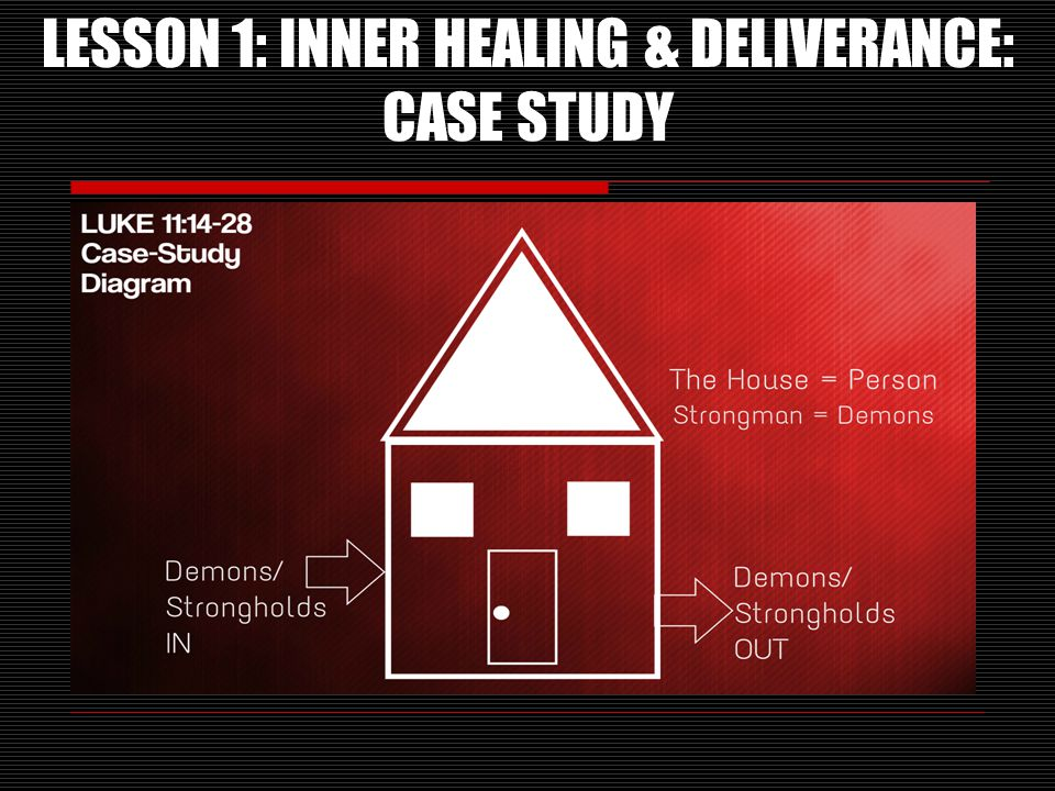 LESSON 1: INNER HEALING & DELIVERANCE: CASE STUDY
