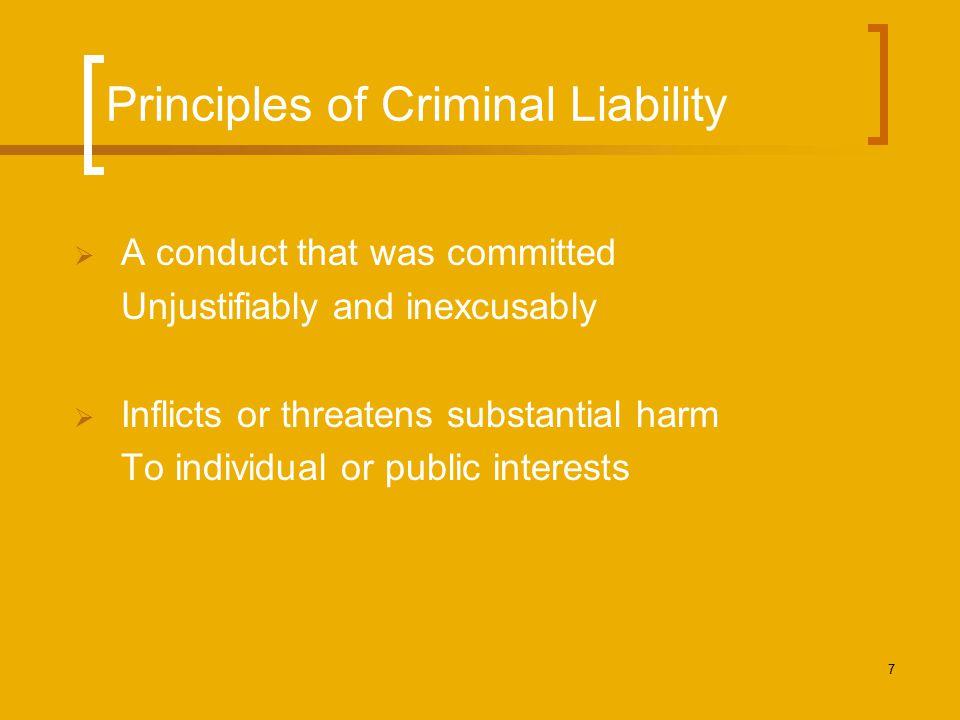 Principles of Criminal Liability