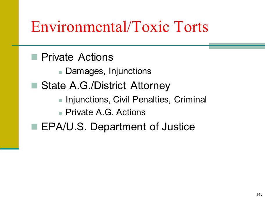 Environmental/Toxic Torts