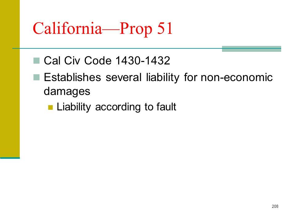 California—Prop 51 Cal Civ Code 1430-1432