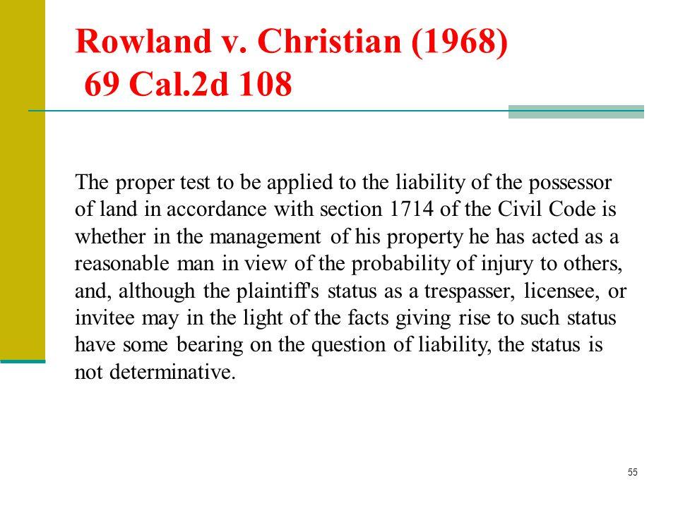 Rowland v. Christian (1968) 69 Cal.2d 108