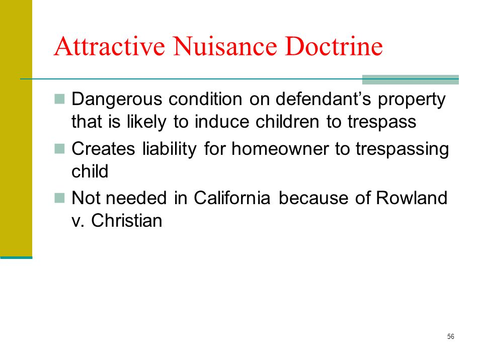 Attractive Nuisance Doctrine