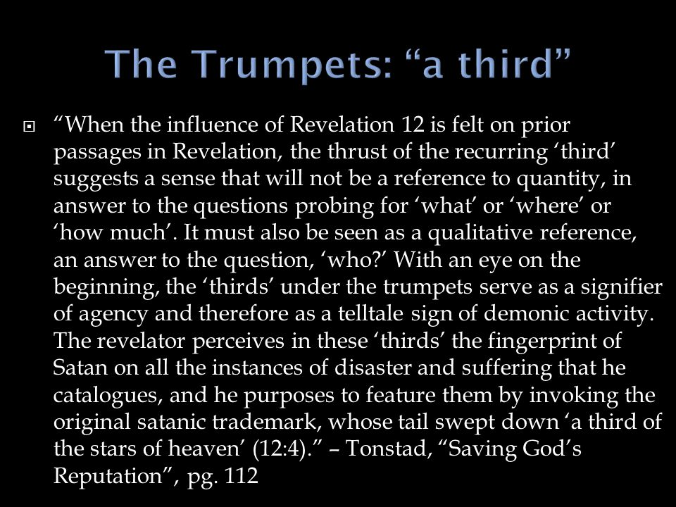The Trumpets: a third