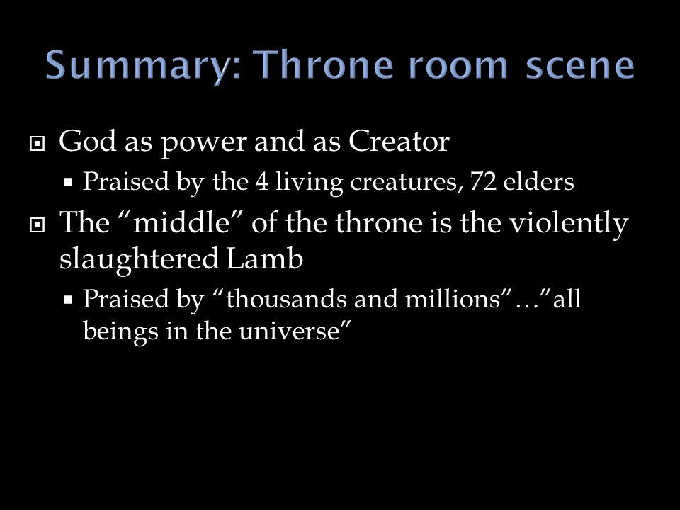 Summary: Throne room scene