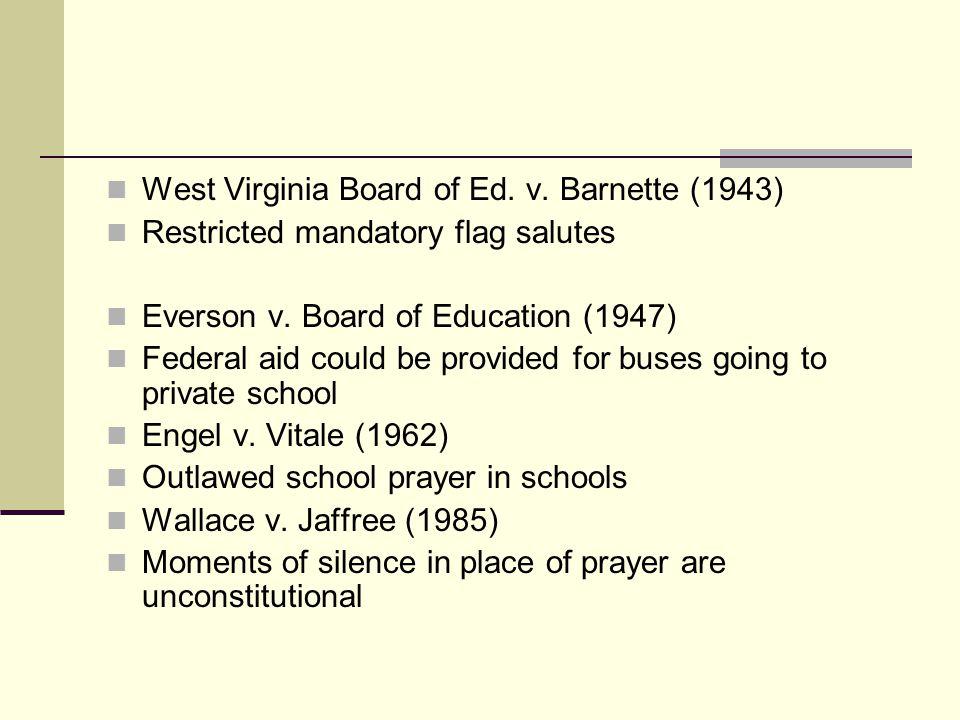 West Virginia Board of Ed. v. Barnette (1943)