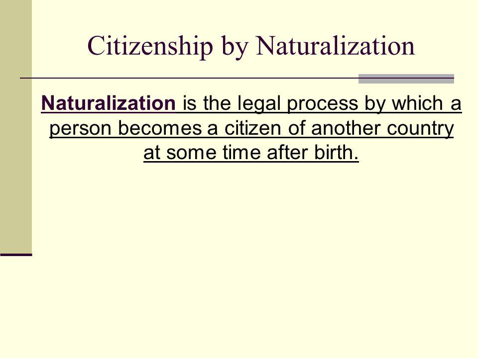 Citizenship by Naturalization