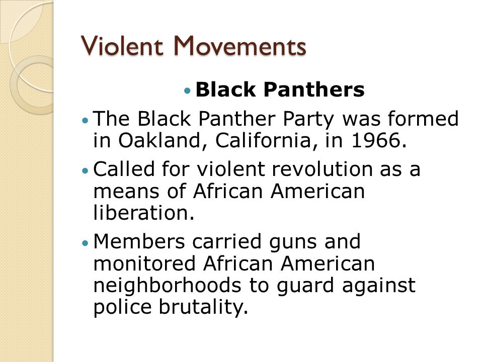 Violent Movements Black Panthers